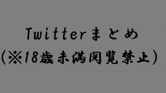 Twitterまとめ(※18才未満閲覧禁止)
